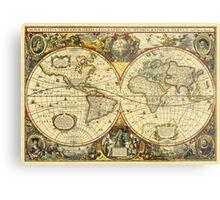 World Map 1641 Metal Print