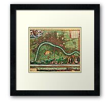 London Map 1600s Framed Print