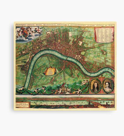 London Map 1600s Canvas Print