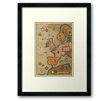 Europe Map 1584 Framed Print