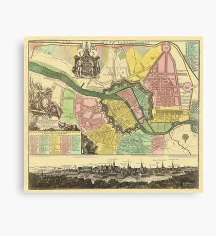 Berlin Map 1720 Canvas Print