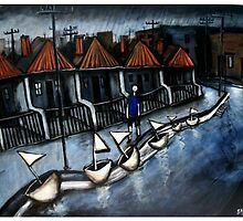 boy and his boats..(collingwood) by glennbrady