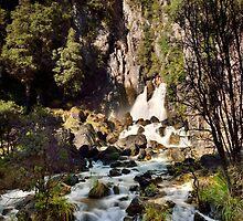 Tarawera Falls Rockface by Ken Wright