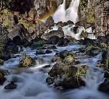 Tarawera Falls Rainbow by Ken Wright