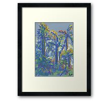 Neighboring Palms (pastel) Framed Print