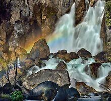 Tarawera Falls Fantail Rainbow by Ken Wright