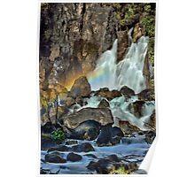 Tarawera Falls Fantail Rainbow Poster