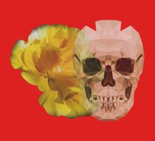 Yellow hibiscus and skull, nice couple One Piece - Long Sleeve