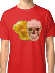 Yellow hibiscus and skull, nice couple Classic T-Shirt