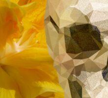 Yellow hibiscus and skull, nice couple Sticker