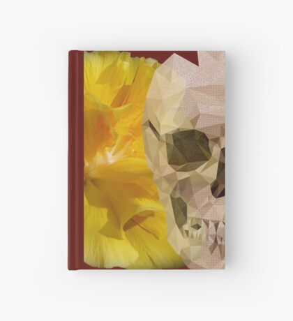 Yellow hibiscus and skull, nice couple Hardcover Journal