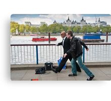 Frozen in Time: Southbank Candid Canvas Print