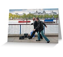 Frozen in Time: Southbank Candid Greeting Card