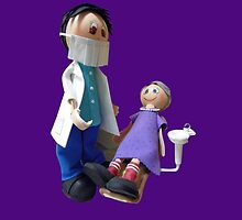 Kid at the dentist by JoAnnFineArt