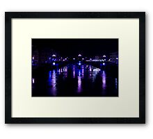Purple lights in the night... Framed Print