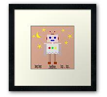 Bedtime robot beep beep Framed Print