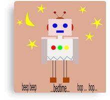 Bedtime robot beep beep Canvas Print
