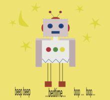 Bedtime robot beep beep One Piece - Short Sleeve