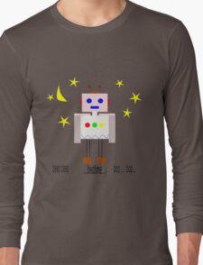 Bedtime robot beep beep Long Sleeve T-Shirt
