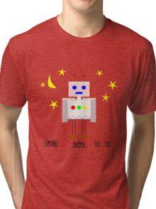 Bedtime robot beep beep Tri-blend T-Shirt