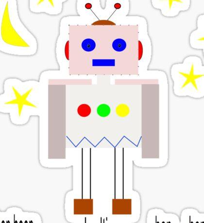 Bedtime robot beep beep Sticker