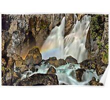Tarawera Falls Fantail Rainbow Rocks Poster