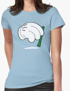 cocaine cartoon hands Womens Fitted T-Shirt
