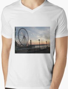 Puget Sound Sunset Mens V-Neck T-Shirt