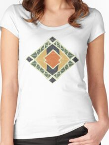 Cool Abstract Enchanting Colors and Shapes Women's Fitted Scoop T-Shirt