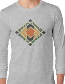 Cool Abstract Enchanting Colors and Shapes Long Sleeve T-Shirt