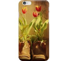 Tulips in Boots iPhone Case/Skin