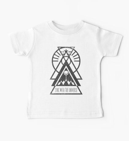 Sync with the Universe - Typography and Geometry Baby Tee