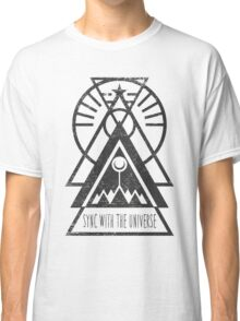 Sync with the Universe - Typography and Geometry Classic T-Shirt