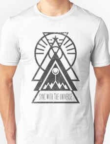 Sync with the Universe - Typography and Geometry T-Shirt