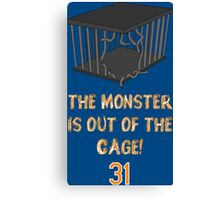 The monster is out of the cage. Canvas Print