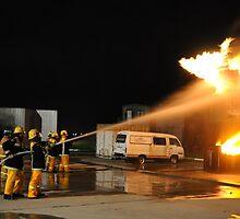 HOT FIRE TRAINING, CFA SOUTH EASTERN TRAINING GROUND by Tamara Bush