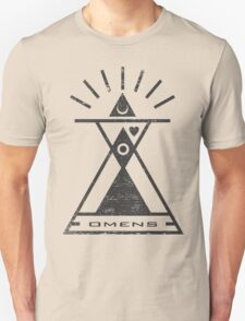 Omens - Typography and Geometry T-Shirt