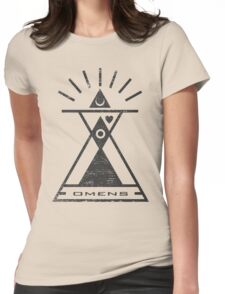 Omens - Typography and Geometry Womens Fitted T-Shirt