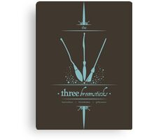The Three Broomsticks in Blue Canvas Print