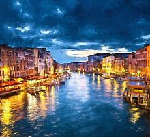Grand Canal Illuminated by Sol Noir Studios