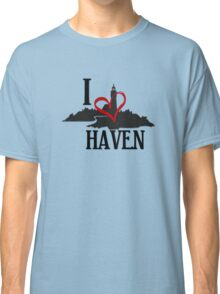 I Love Haven Black Logo Classic T-Shirt