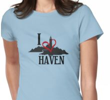 I Love Haven Black Logo Womens Fitted T-Shirt