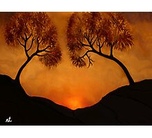 Sunset in the Jerusalem hills Photographic Print