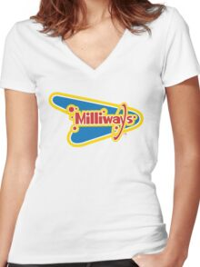 Milliways: the Restaurant at the End of the Universe Women's Fitted V-Neck T-Shirt