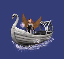 Winged messenger .. river of the dead Womens Fitted T-Shirt