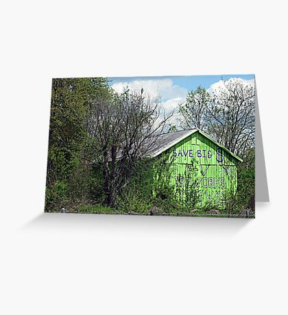 Eco-Barn Greeting Card