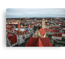 Munich Rooftops Canvas Print