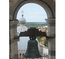 A Bell over Tuscany Photographic Print