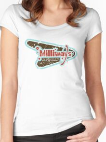 Milliways: the Restaurant at the End of the Universe Women's Fitted Scoop T-Shirt