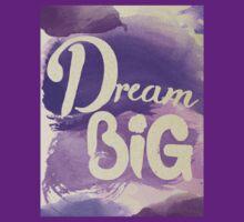 Dream Big Inspirational Purple Watercolor  T-Shirt